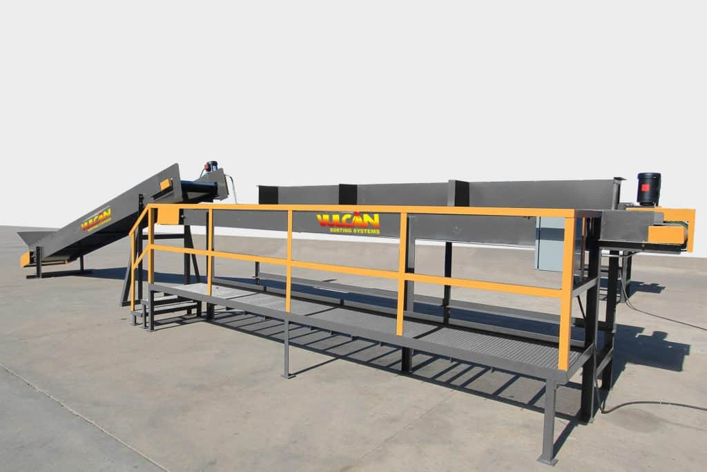 3-Man Mini Sorting Station with Feed Conveyor
